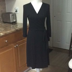 Classic Black Wrap Dress